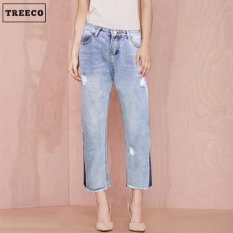 Treeco Women's Tattered Denim Jeans
