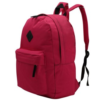 Trendy Printed Plain Travel School Backpack 167 (Pink) - picture 2