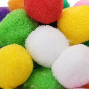 Twenty pcs Multicolor Round Felt Ball 4cm