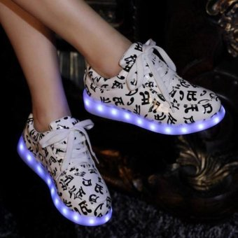 Ubuy LED Light Unisex Shoes Luminous Zapatos Schoenen Couples Casual colorful shoes - intl - 3