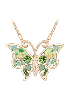Ufengke UF-JQM048-3 Butterfly Pendant Chain (Green)