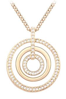 ufengke UF-JQM067-1 3-Rings Pendant Sweater Chain (Gold)