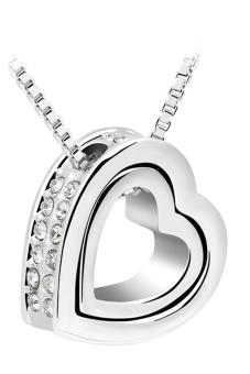 Ufengke UF-JQN024-3 Heart Pendant Necklace (White)