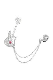 Ufengke UF-JQX005-2 Guitar Musical Note Brooches (Purple)
