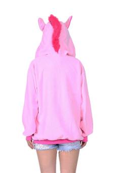 Ufosuit Animal Unicorn Hoodies Adult Hoody (Pink) - Intl - 3
