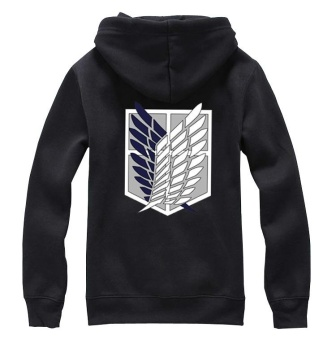Ufosuit Attack on Titan Long Sleeve Anime Jacket Sweater HoodieBlack - intl - 3