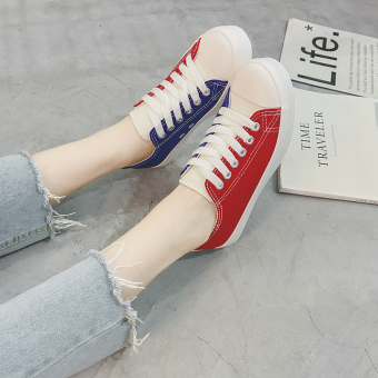 Ulzzang Korean-style female student New style white shoes canvas shoes (White)