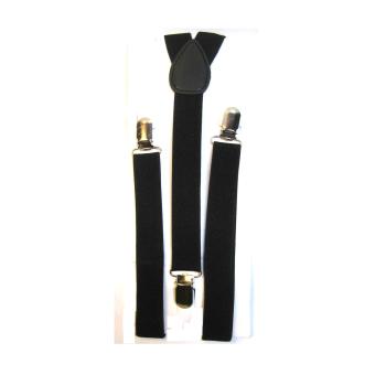 Unisex Adult and Kids Suspenders (Black) - 2
