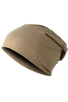 Unisex Hip-hop Beanie Hat (Brown)