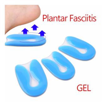 Unisex Silicone Shoes Cushion Pad Gel U-Shape Plantar FasciitisFoot pain Heel - intl