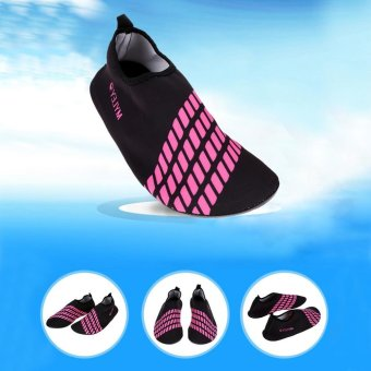 Unisex Ultra Soft Lightweight Diving Water Sport Shoes (Black Pink)- intl - 4