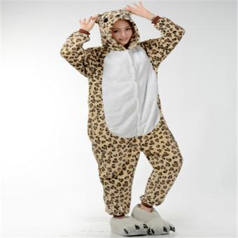 Unisex Women Men Adult Cosplay Costume Animal lovely Animal Sleepsuit Flannel Pajamas Winter Warm Sleepwear Costume Onesie - intl - 2