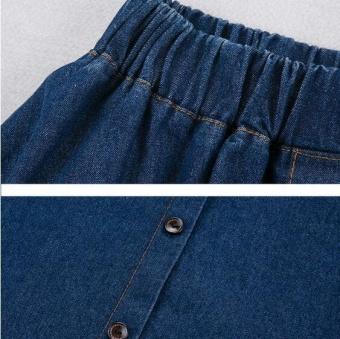 UR fat denim skirt-Dark blue - intl - 4