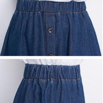 UR fat denim skirt-Dark blue - intl - 3