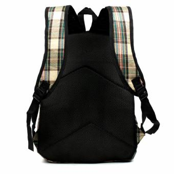 Urban Hikers Clyde Lash Tab Casual Backpack (Light Brown Checkered) - 4