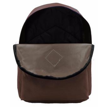 Urban Hikers Lash Tab Casual Backpack (Plain Brown) - 4