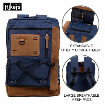 Urban Hikers Tyler Expandable Casual Travel Laptop Backpack (Blue)