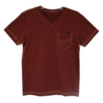 V Neck Shirt (Maroon)