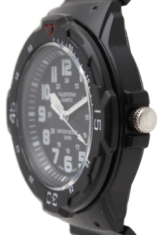 Valentino Men's Black Rubber Strap Watch 20121811 - picture 2
