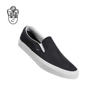 Vans Classic Slip-On Lifestyle Shoes Black / White vn0a38f7os3 -SH - 4