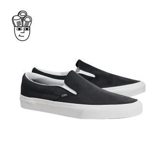 Vans Classic Slip-On Lifestyle Shoes Black / White vn0a38f7os3 -SH - 5
