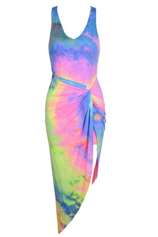 Velishy Cocktail Maxi Dress Beachwear (Multicolor)