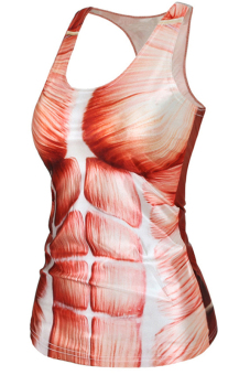 Velishy Muscle Printed Tank Top (White) - picture 2