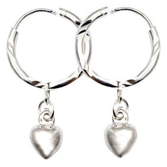 Venice SSE-114 Infinity Stud Earrings (Silver)