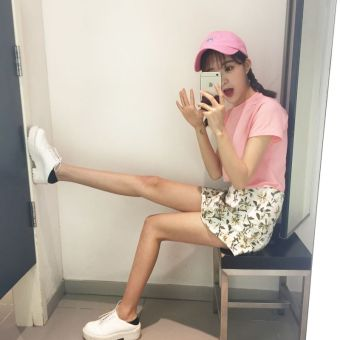 Versatile New style Slim fit slimming T-shirt (Pink)