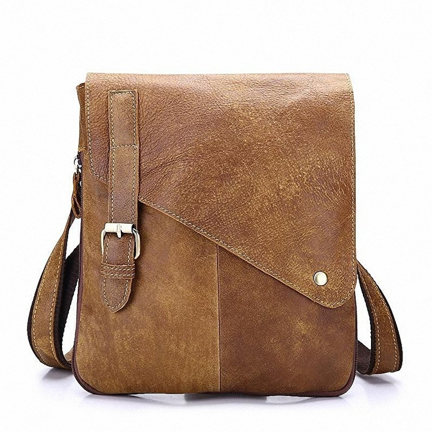 abc140f77f3 ... vintage 100% top Genuine Leather Mens Cowskin Bag Designer  casualcrossbody bag Men business Messenger Bags ...