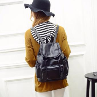 Vintage Braid Leather Backpack School Bag Casual Bag Price Philippines