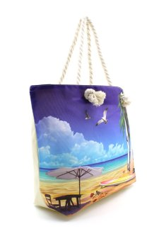 Vintage Paris Flying Pigeon Beach Tote Bag - 2