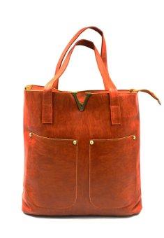 Vintage Paris Veron Leather Shoulder Bag (Dark Brown) - picture 2