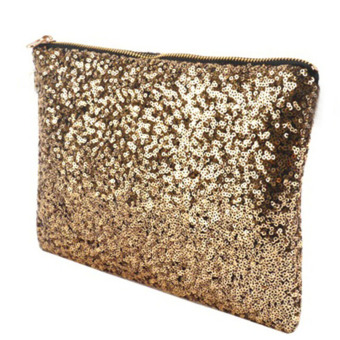 Vococal Bling Sequins Top-Handle Bag (Gold)