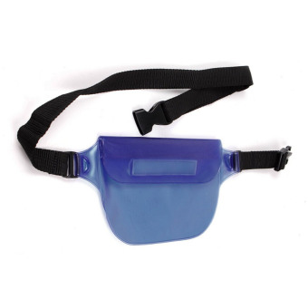 Vococal Waterproof Transparent Waist Bag (Blue)