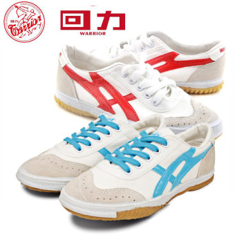 Warrior wl-27a Hong blue side table tennis ball retro canvas shoes Shoes (Blue)