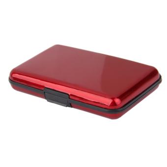 Waterproof Aluminum Metal Case Business ID Credit Card Holder Red - 4