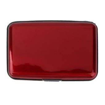 Waterproof Aluminum Metal Case Business ID Credit Card Holder Red - 3