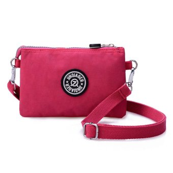 Waterproof Nylon Handbag Shoulder Diagonal Bag Messenger Hot Pink