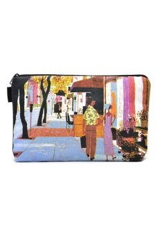 Way of Life Printed Pouch Bag (Multicolor)