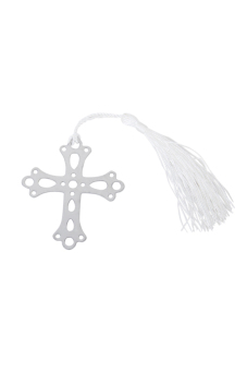 Wedding Favors Cross Bookmark with Tassels