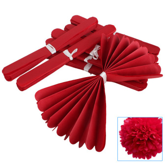 Wedding Tissue Paper Crafts Set of 10 (Red) - picture 2