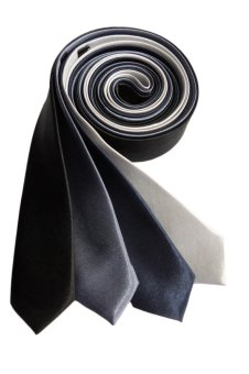 Well Suited Plain Slim Necktie Combo B