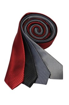 Well Suited Solid Stripe Slim Necktie Combo E