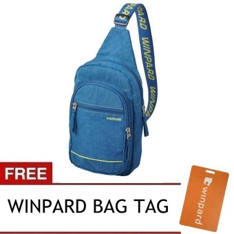 Winpard 2016 6803 Unisex Shoulder Cross Bag (Blue) with FREE Winpard Bag Tag