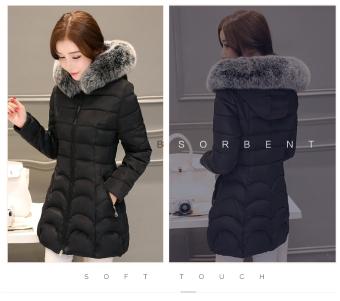 Winter coat women's winter coat women's long section of thickcotton - 2