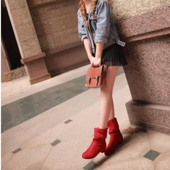 Winter Fashion Martin Boots Female Knight Boots Shoes Matte SuedeBoots for Women (Black) - intl - 5