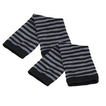 Winter Wrist Arm Hand Warmer Knitted Long Fingerless Gloves MittenBlack - 3