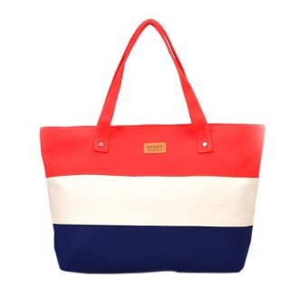 Women Canvas Handbags Shoulder Messenger Bags Red - picture 2