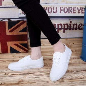 Women Canvas Sneakers Shoes Buy 1 Take 1 - Blue and White - 5
